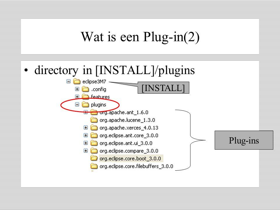 Wat is een Plug-in(2) directory in [INSTALL]/plugins [INSTALL] Plug-ins