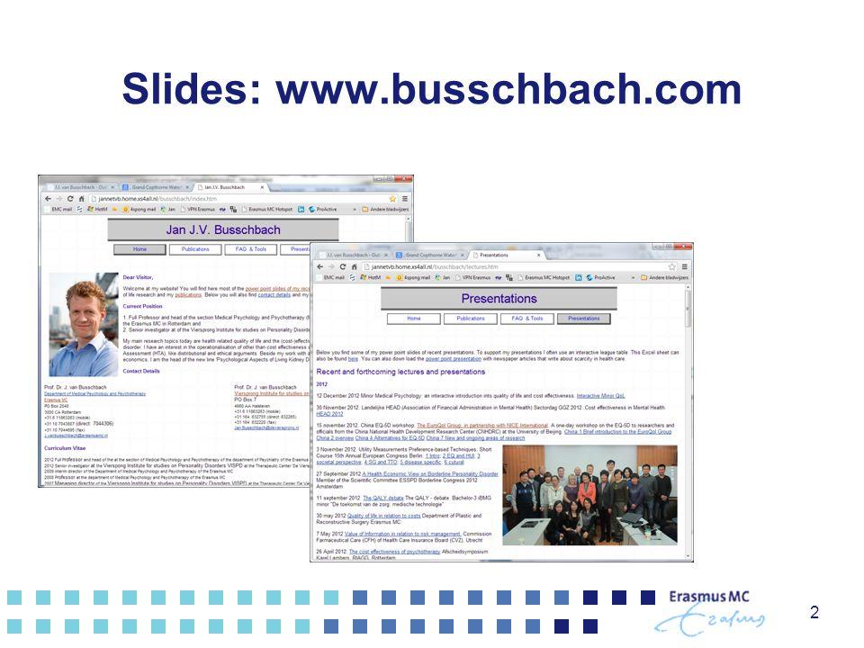 Slides: www.busschbach.com 2