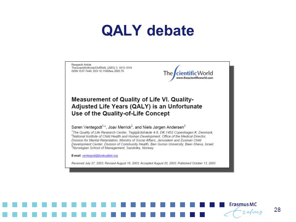 QALY debate 28