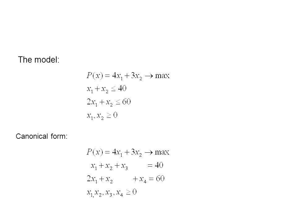 Matrix form: