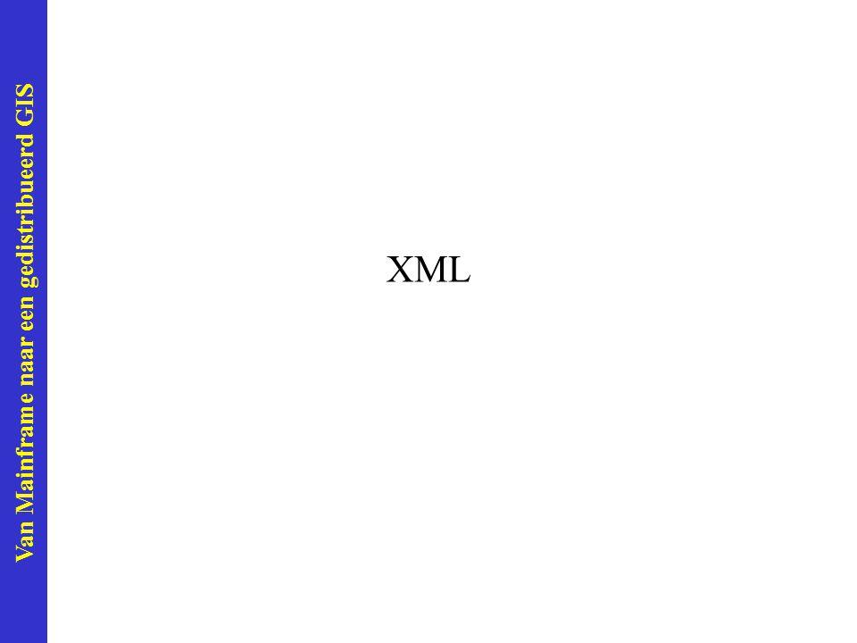 Van Mainframe naar een gedistribueerd GIS XML
