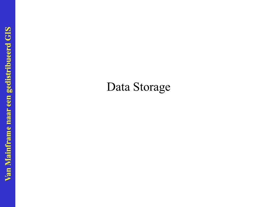 Van Mainframe naar een gedistribueerd GIS Data Storage