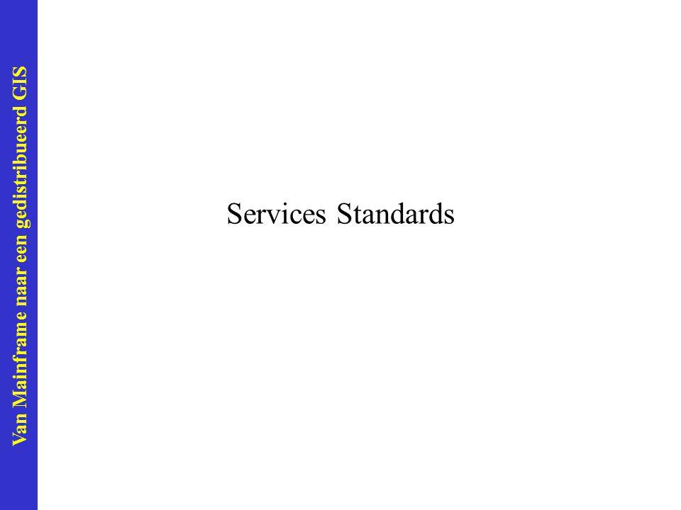 Van Mainframe naar een gedistribueerd GIS Services Standards