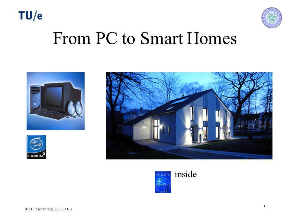 © M. Rauterberg, 2003, TU/e 3 From PC to Smart Homes inside
