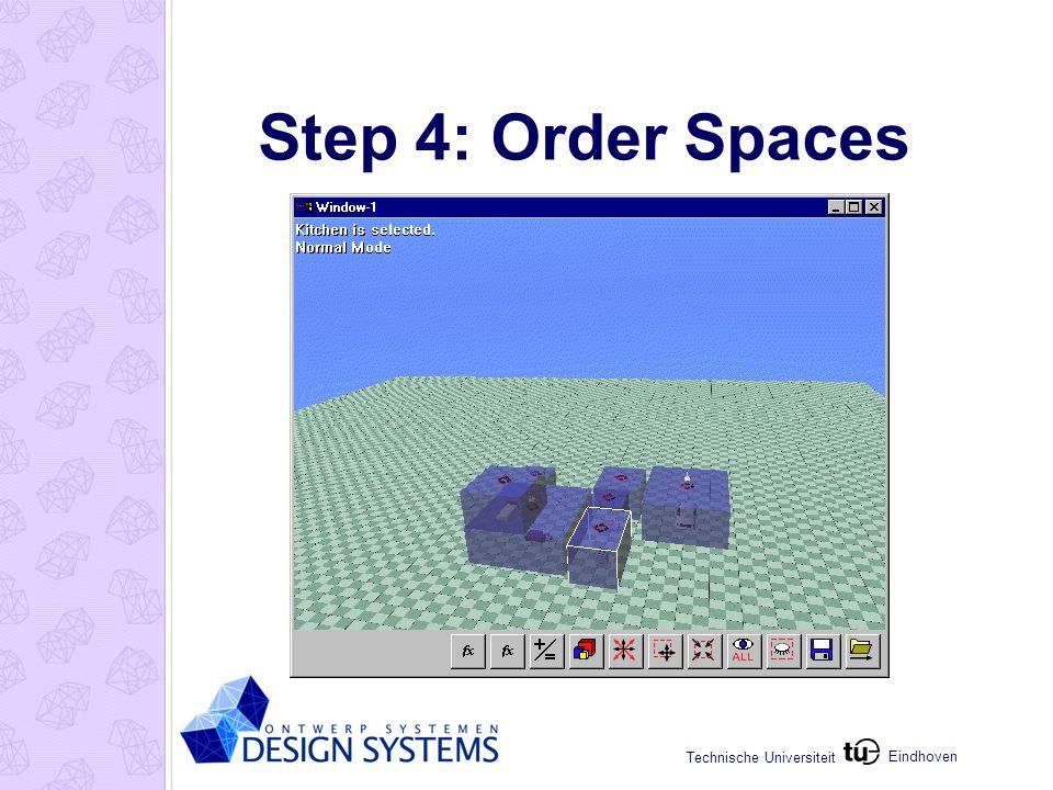 Eindhoven Technische Universiteit Step 4: Order Spaces