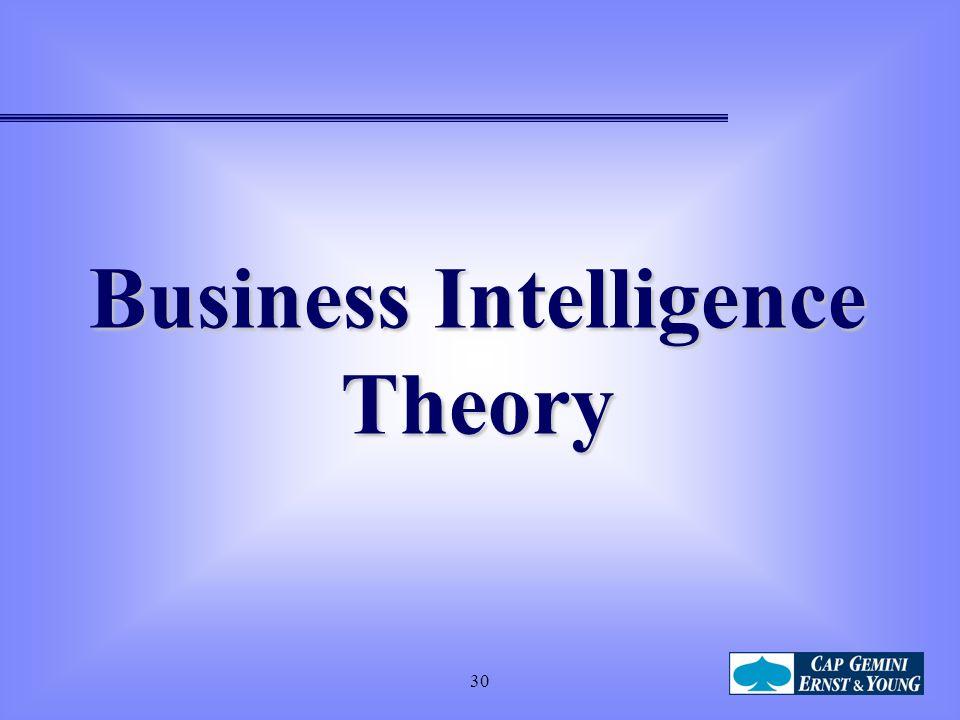 30 Business Intelligence Theory