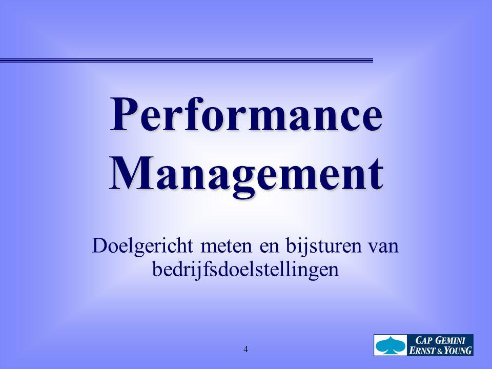 4 Performance Management Doelgericht meten en bijsturen van bedrijfsdoelstellingen