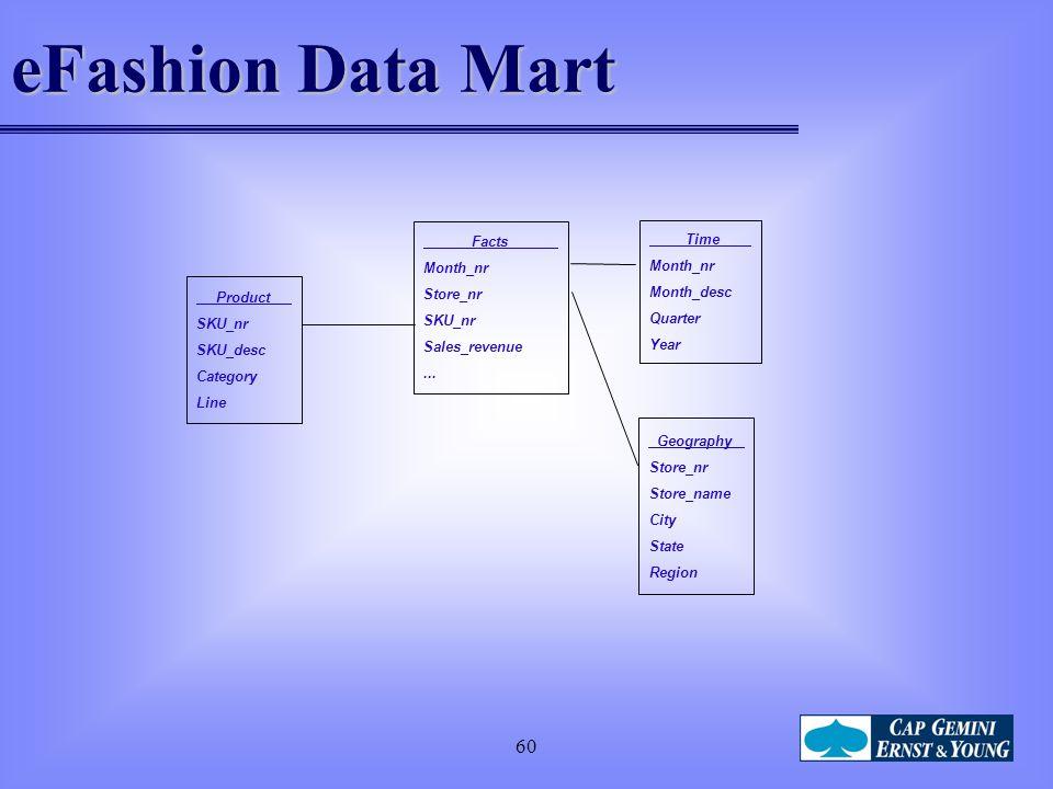 60 eFashion Data Mart Facts Month_nr Store_nr SKU_nr Sales_revenue...