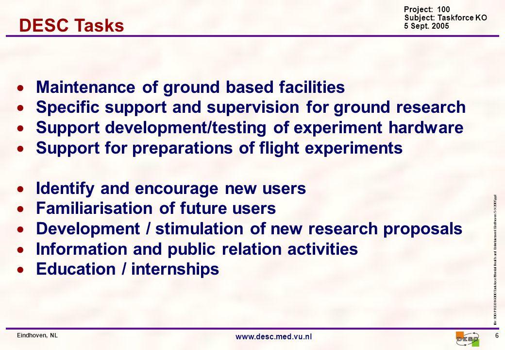 Project: 100 Subject: Taskforce KO 5 Sept.