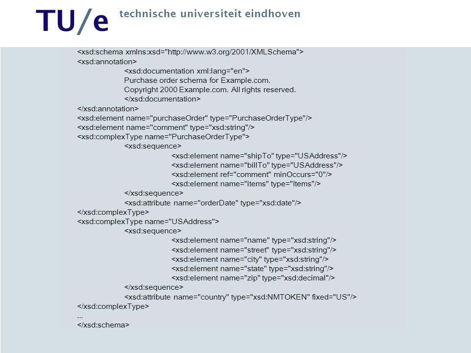 TU/e technische universiteit eindhoven Purchase order schema for Example.com.
