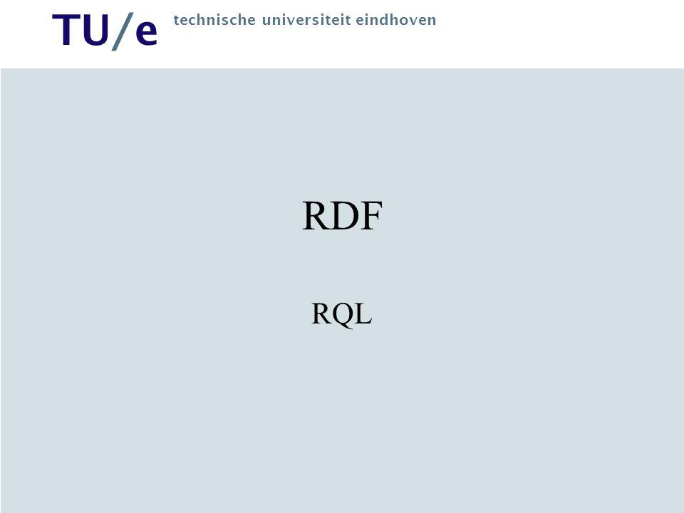 TU/e technische universiteit eindhoven RDF RQL