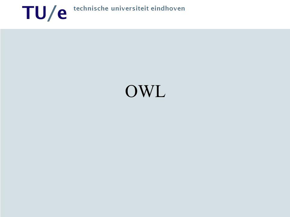 TU/e technische universiteit eindhoven OWL