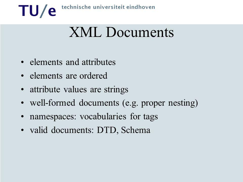 TU/e technische universiteit eindhoven DTD: a grammar Catalog  Product* Product  Name Price.