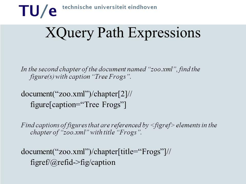 TU/e technische universiteit eindhoven XQuery Element Constructor Generate an element that has an empid attribute.