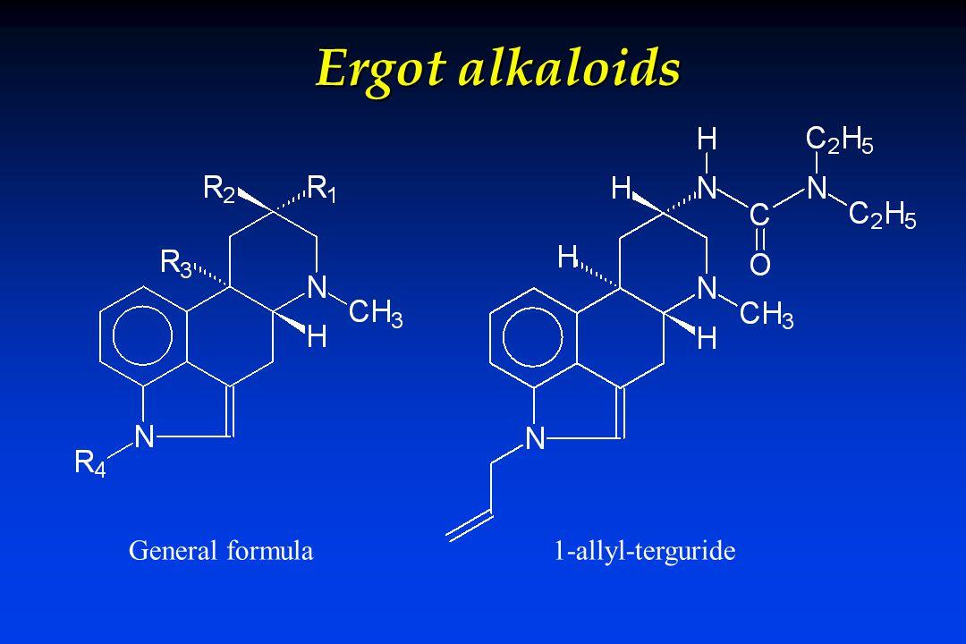 Ergot alkaloids General formula 1-allyl-terguride