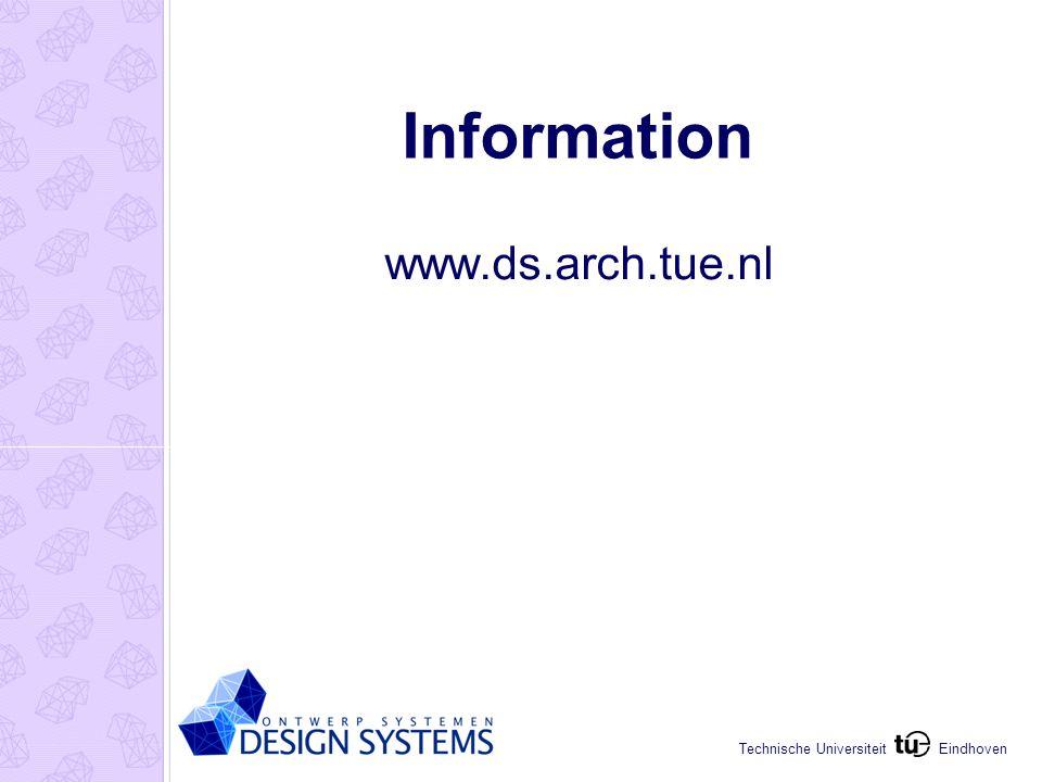 Eindhoven Technische Universiteit Information www.ds.arch.tue.nl