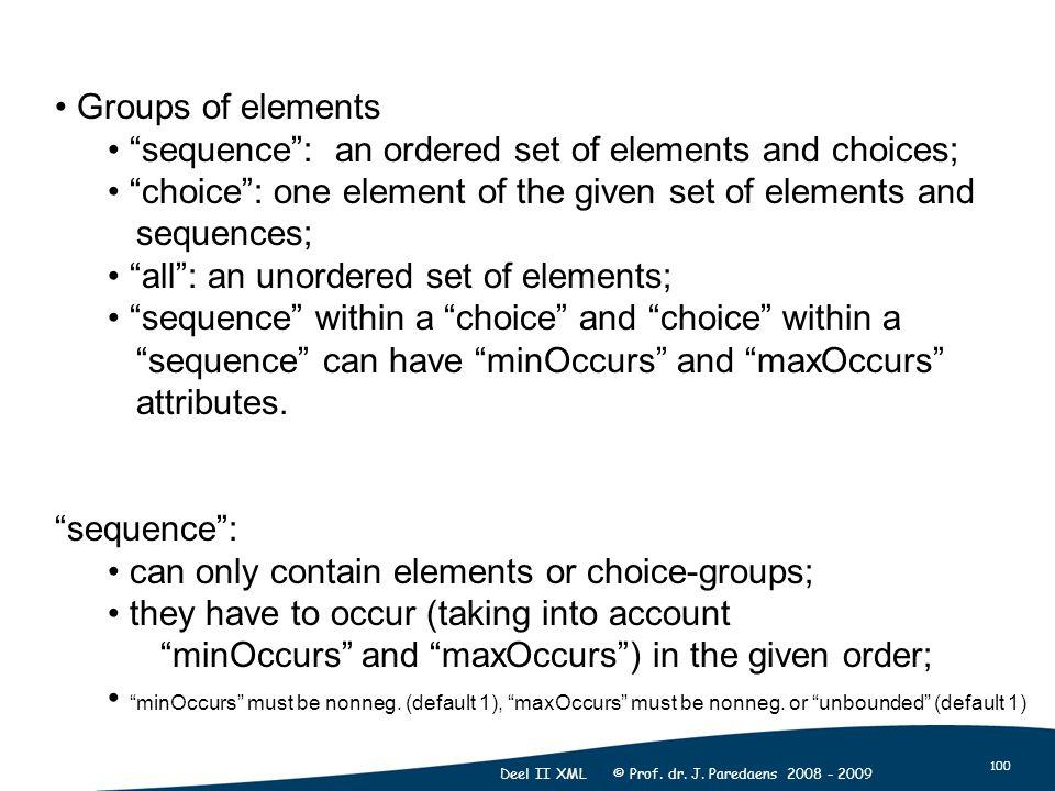 100 Deel II XML © Prof. dr. J.
