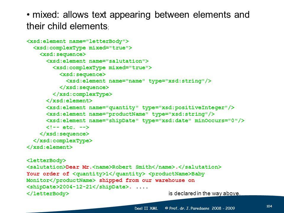 104 Deel II XML © Prof. dr. J.