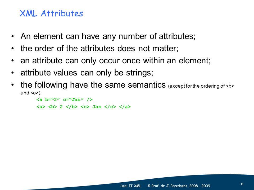 11 Deel II XML © Prof. dr. J.