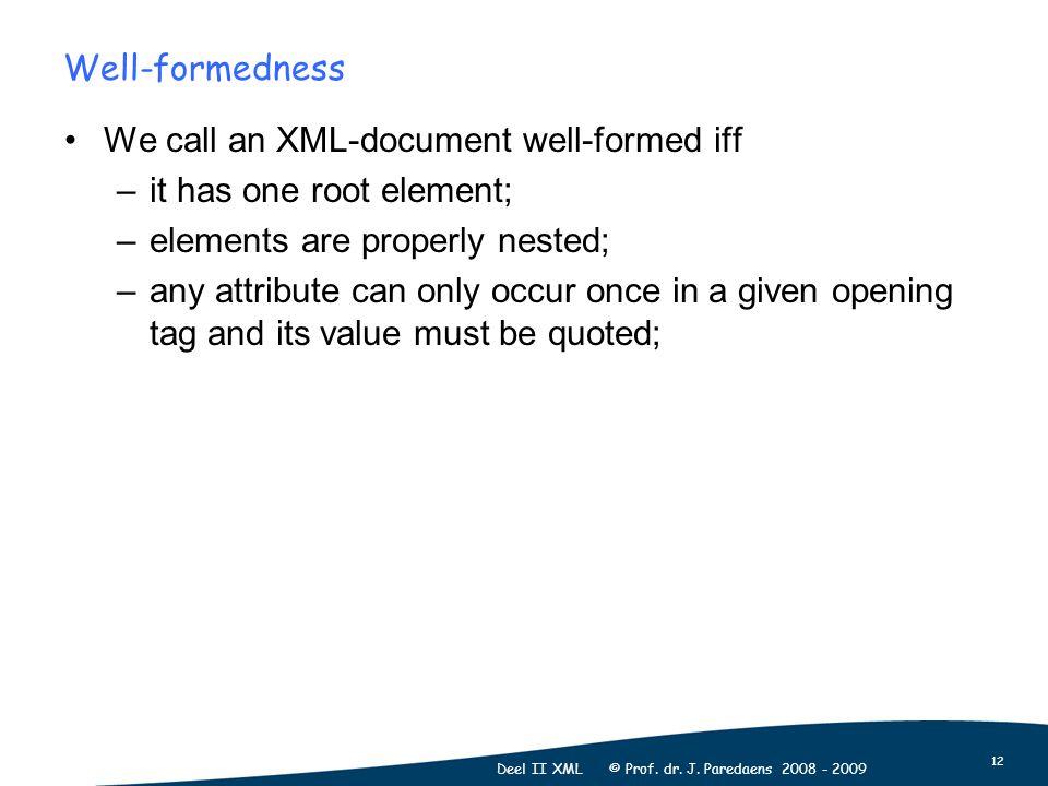 12 Deel II XML © Prof. dr. J.