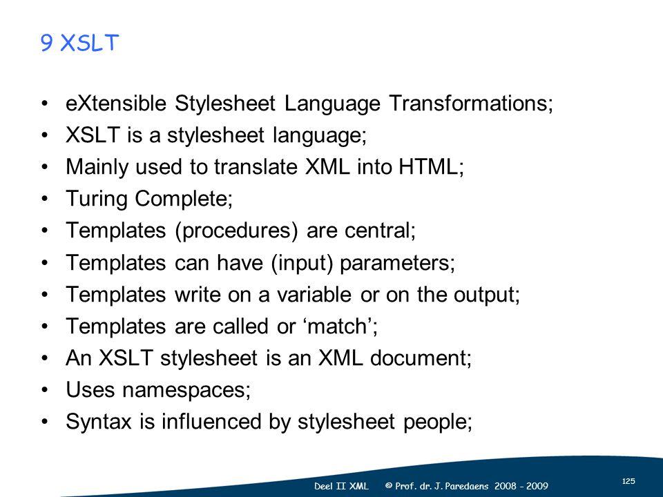 125 Deel II XML © Prof. dr. J.
