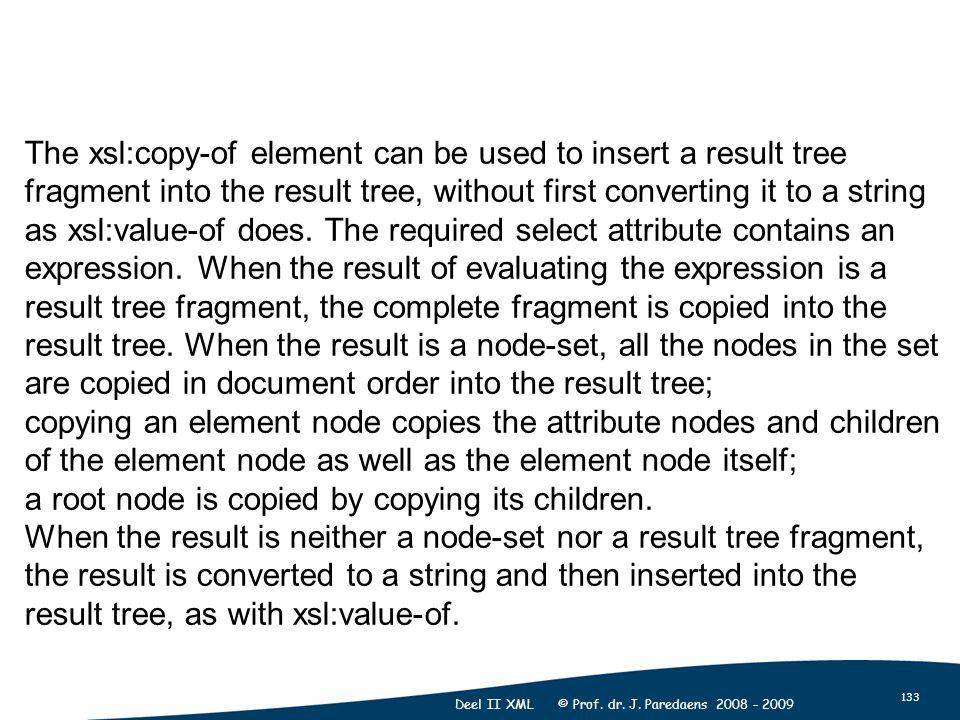 133 Deel II XML © Prof. dr. J.