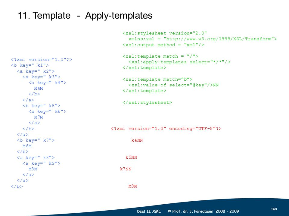 148 Deel II XML © Prof. dr. J. Paredaens 2008 - 2009 11.