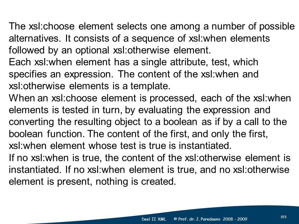 153 Deel II XML © Prof. dr. J.
