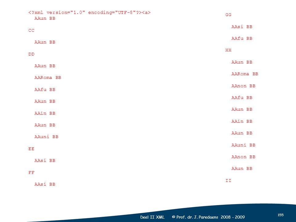 155 Deel II XML © Prof. dr. J.