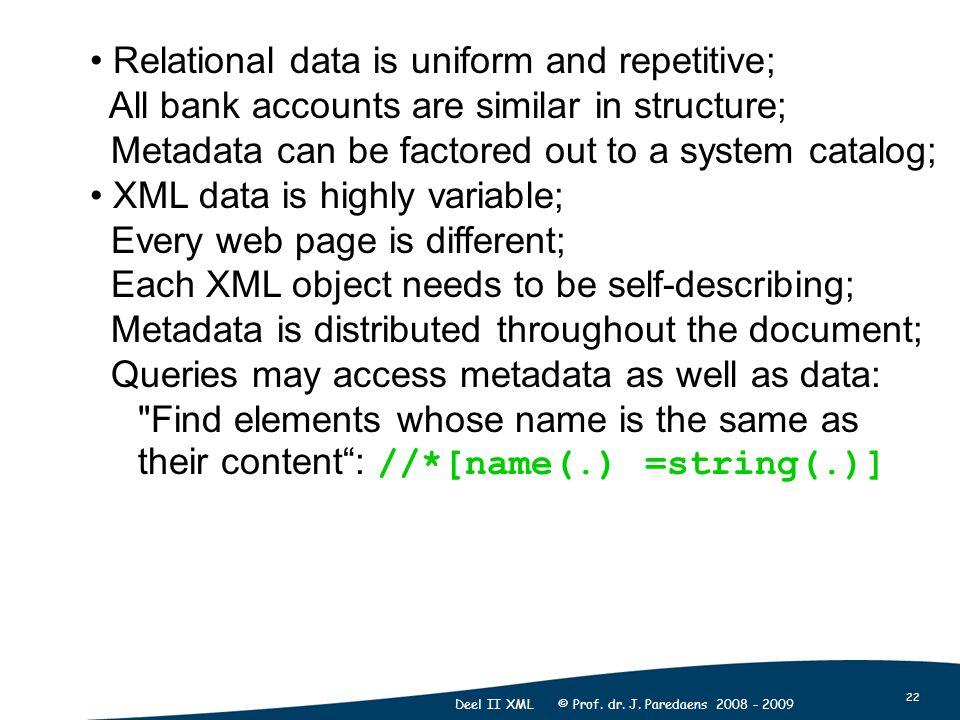 22 Deel II XML © Prof. dr. J.