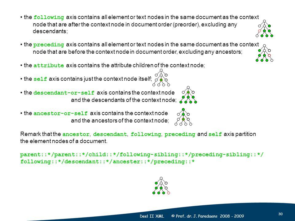 30 Deel II XML © Prof. dr. J.