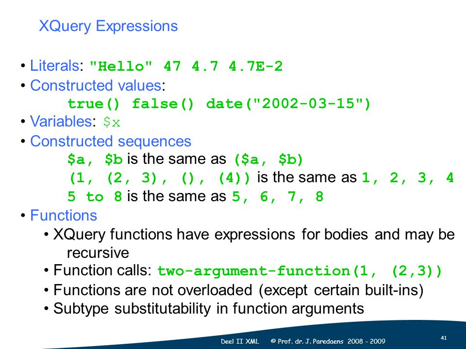 41 Deel II XML © Prof. dr. J.
