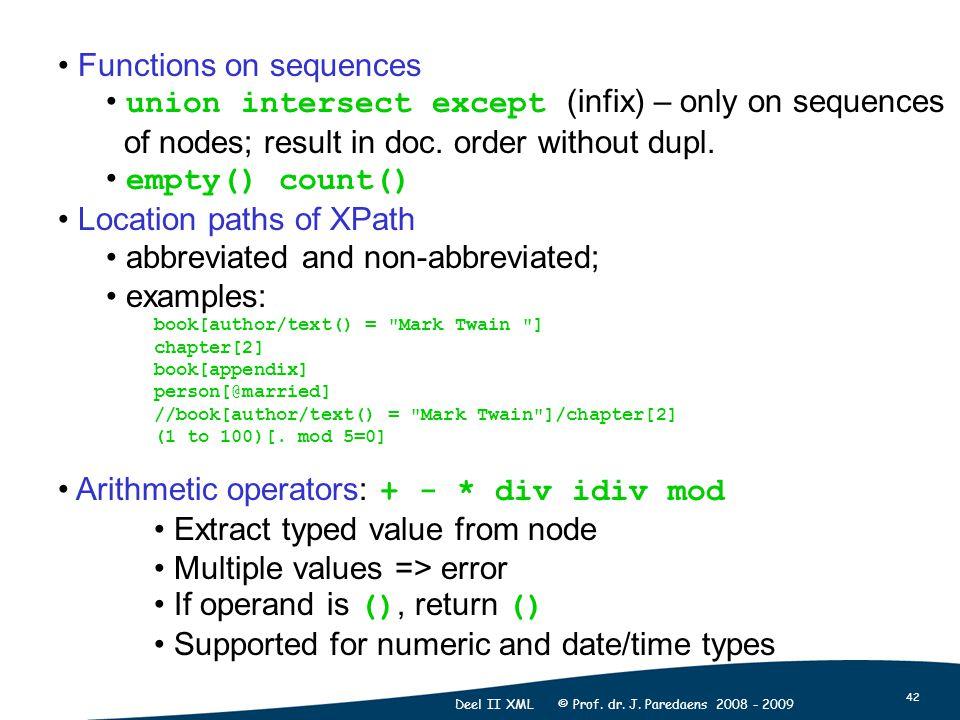 42 Deel II XML © Prof. dr. J.