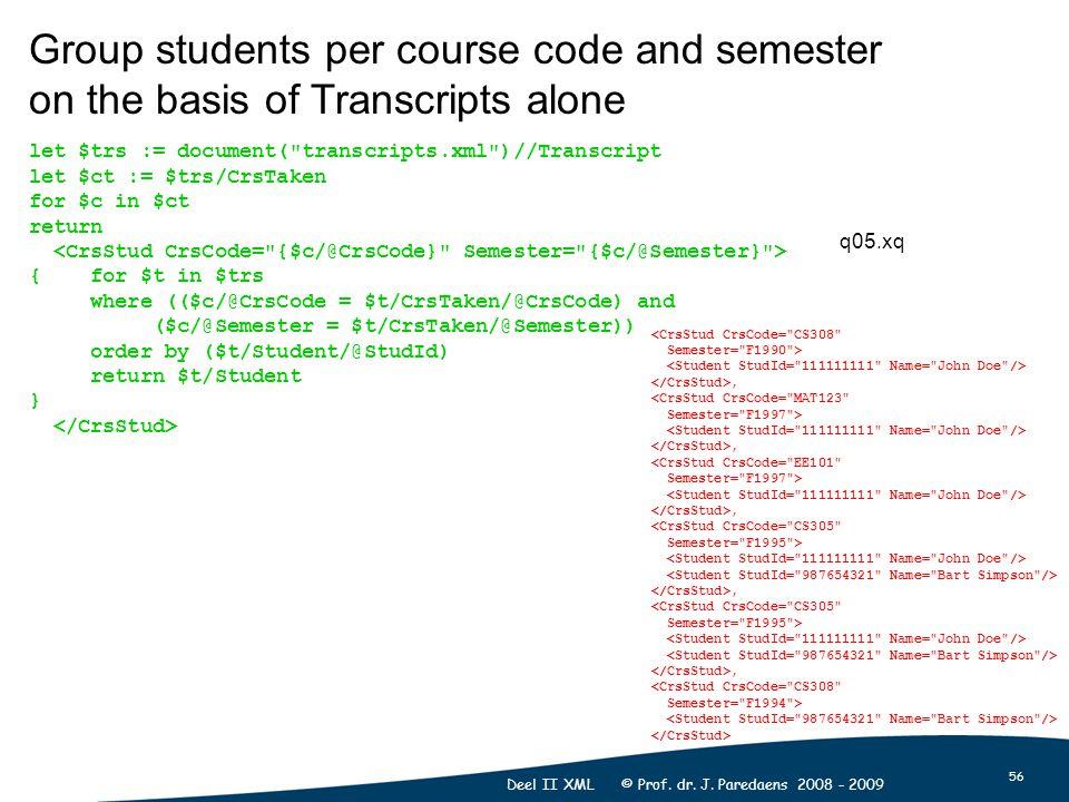 56 Deel II XML © Prof. dr. J.