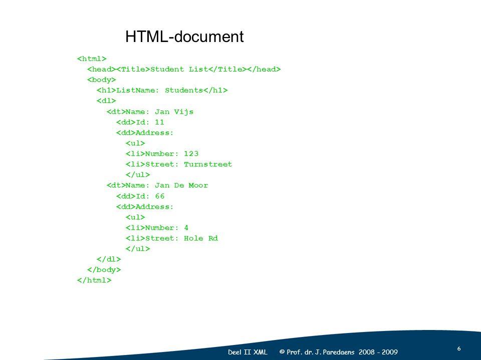 6 Deel II XML © Prof. dr. J.