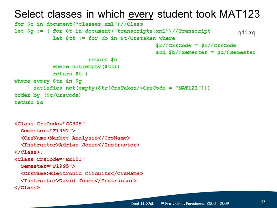 69 Deel II XML © Prof. dr. J.