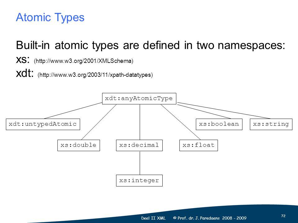72 Deel II XML © Prof. dr. J.