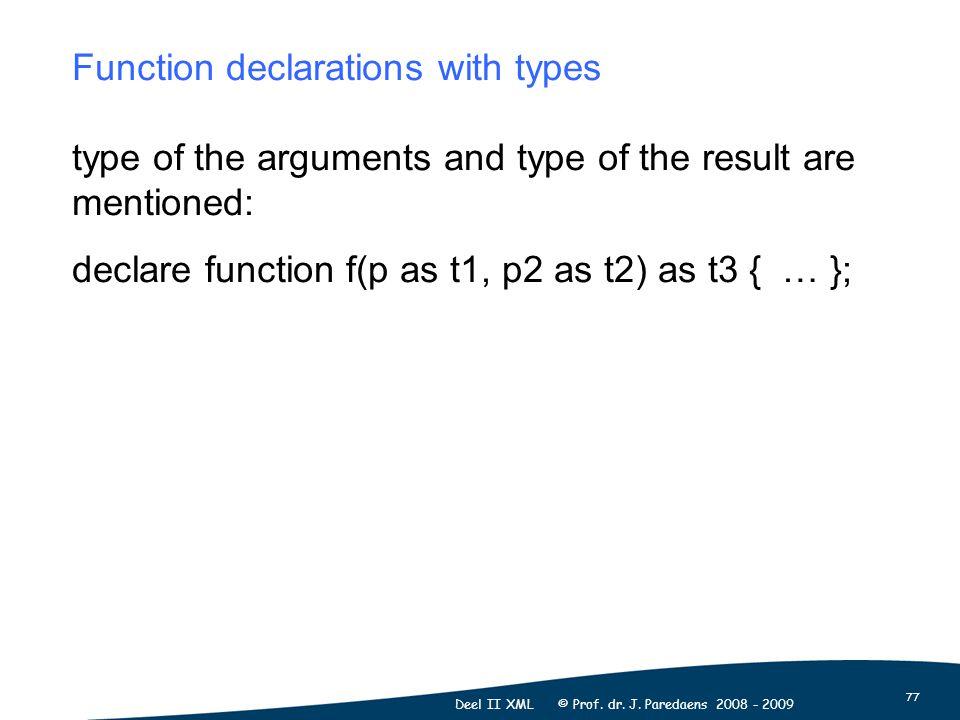 77 Deel II XML © Prof. dr. J.