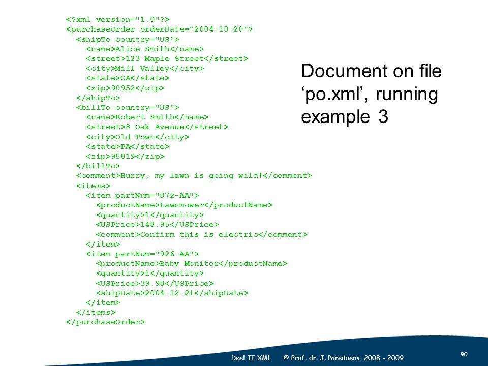 90 Deel II XML © Prof. dr. J.