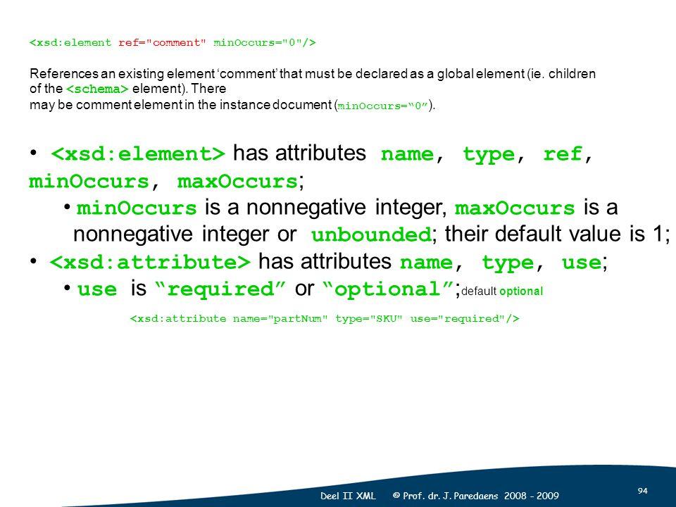 94 Deel II XML © Prof. dr. J.