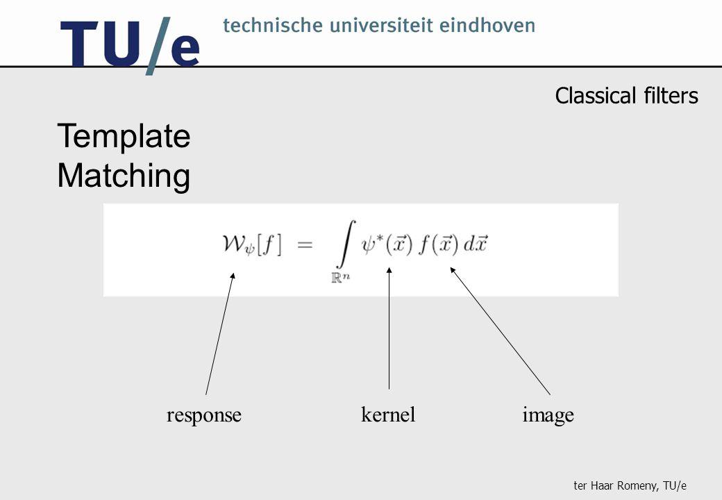 ter Haar Romeny, TU/e Template Matching imagekernelresponse Classical filters