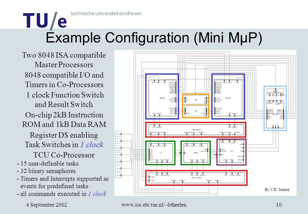 technische universiteit eindhoven 4 September 2002www.ics.ele.tue.nl/~btheelen10 Example Configuration (Mini MµP) By V.R.