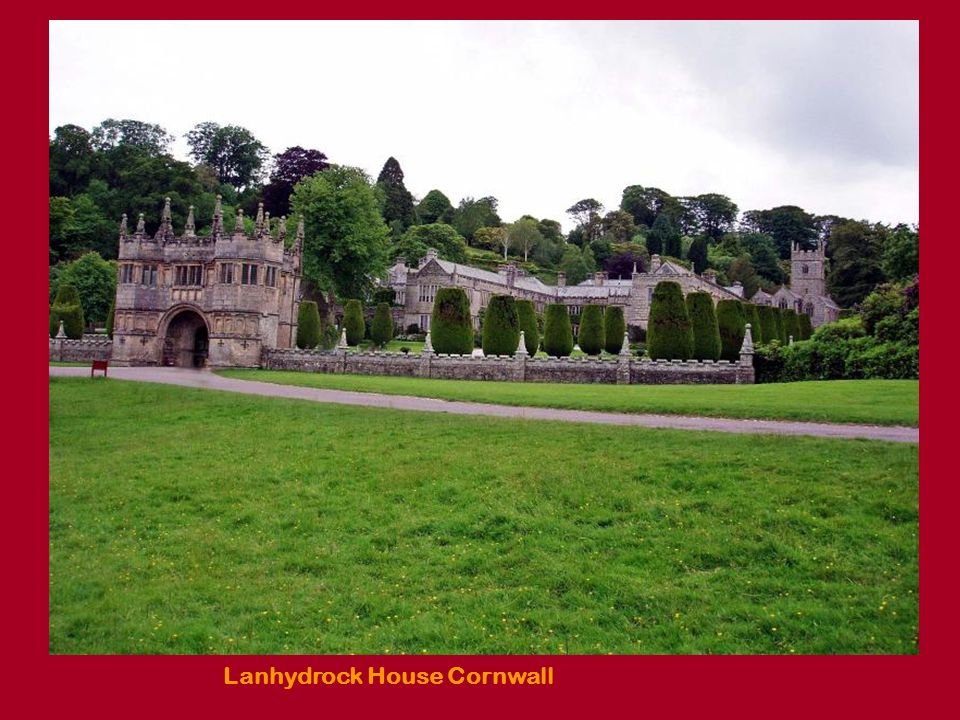 Lanhydrock House Cornwall, The formal garden