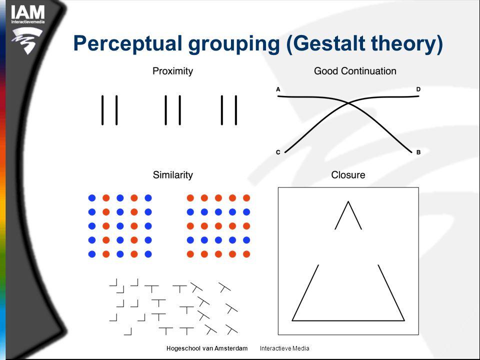 Hogeschool van Amsterdam Interactieve Media Perceptual grouping (Gestalt theory)