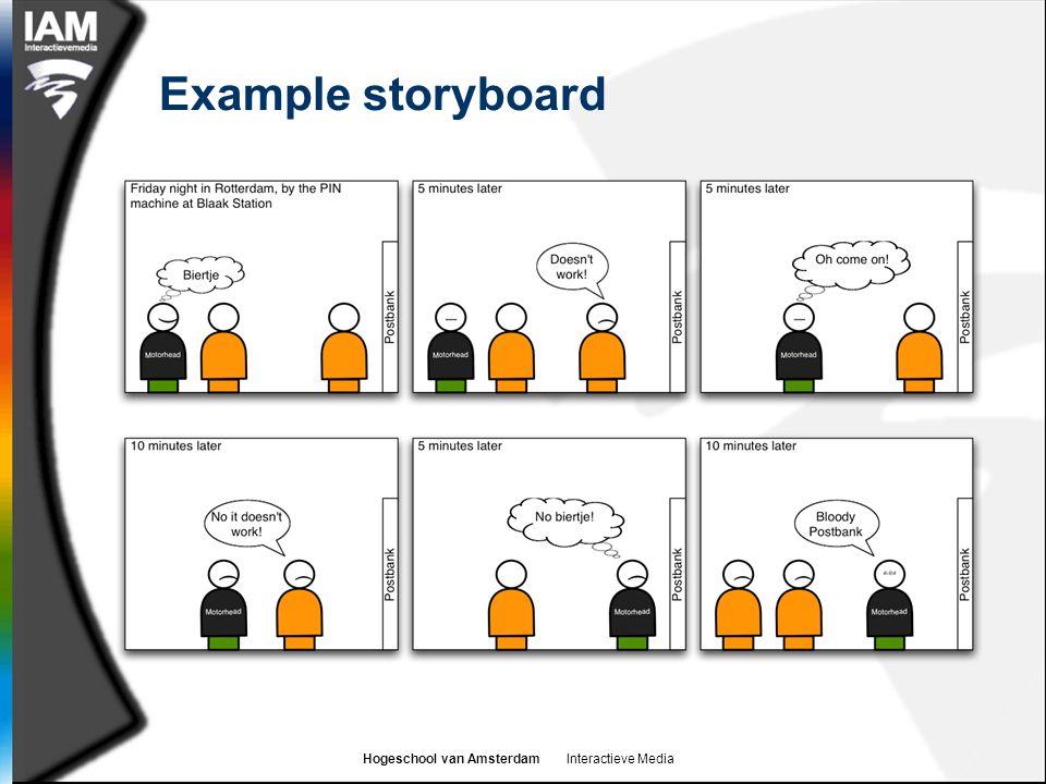 Hogeschool van Amsterdam Interactieve Media Example storyboard