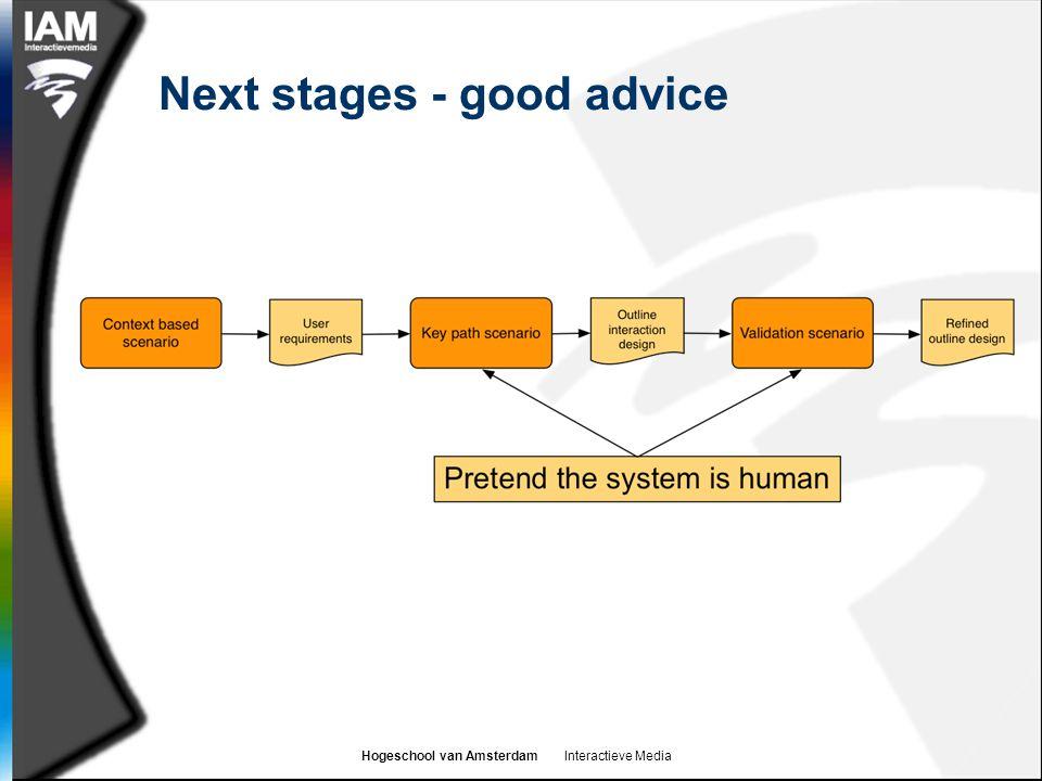 Hogeschool van Amsterdam Interactieve Media Next stages - good advice