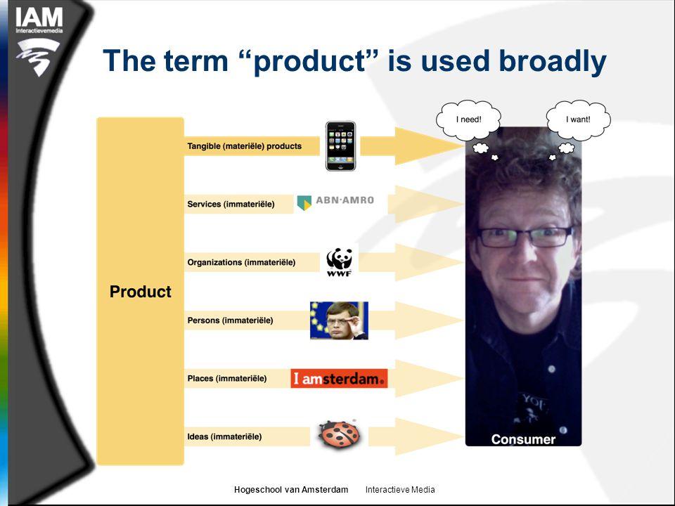 Hogeschool van Amsterdam Interactieve Media The term product is used broadly