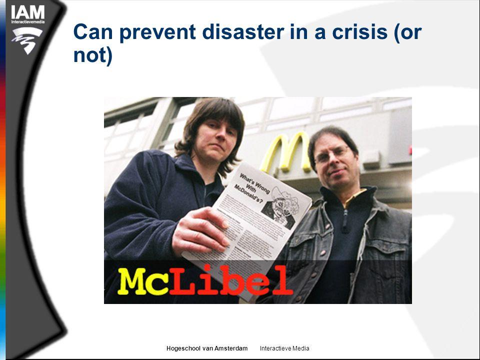 Hogeschool van Amsterdam Interactieve Media Can prevent disaster in a crisis (or not)