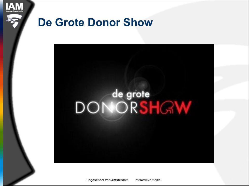 Hogeschool van Amsterdam Interactieve Media De Grote Donor Show