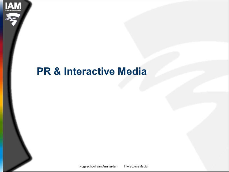 Hogeschool van Amsterdam Interactieve Media PR & Interactive Media